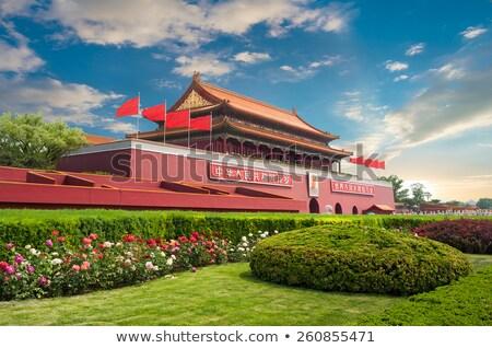 ворот · башни · Запретный · город · Китай · здании · красный - Сток-фото © anbuch