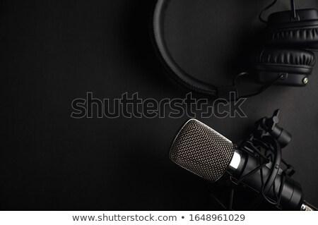 микрофона черный изолированный белый музыку звук Сток-фото © diabluses