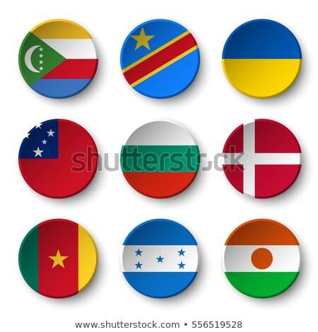 Banderą papieru kółko cień przycisk Bułgaria Zdjęcia stock © gubh83