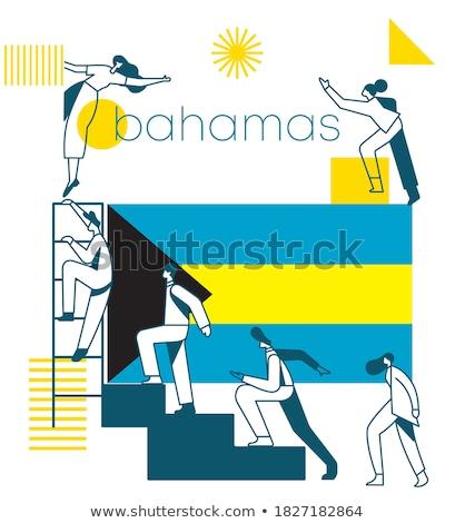 флаг Багамские острова темы Идея дизайна черный Сток-фото © kiddaikiddee