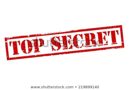 top · geheime · map · geïsoleerd · witte · 3d · render - stockfoto © flipfine
