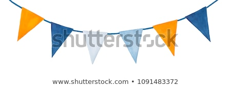 Watercolor party bunting, isolated on white background Stock photo © gladiolus