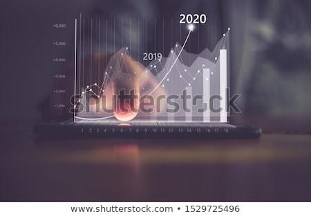 ストックフォト: 作業 · 成長 · 3D · 生成された · 画像 · 矢印