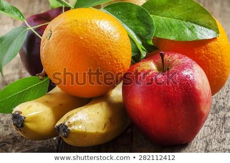 Sarı muz elma portakal birlikte sepet Stok fotoğraf © jarin13