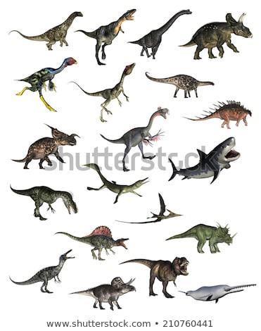 Dinozor 3d render beyaz doğa dijital grafik Stok fotoğraf © mariephoto