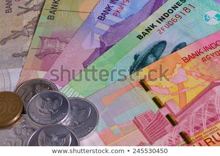 Indonézia · asztal · minta · bankjegyek · pénz · utazás - stock fotó © capturelight