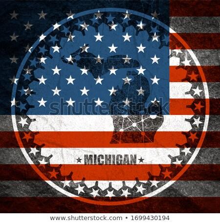 Mapa EUA Michigan ponto padrão vetor Foto stock © Istanbul2009
