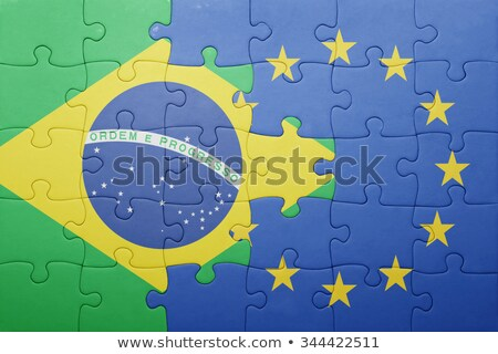 brazil and european union flags in puzzle stock photo © istanbul2009