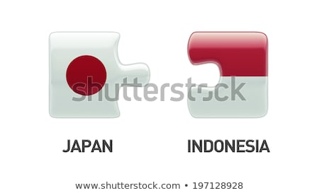 Indonesia and Japan Flags in puzzle Stock photo © Istanbul2009
