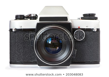 Eski refleks kamera film yalıtılmış beyaz Stok fotoğraf © vtls