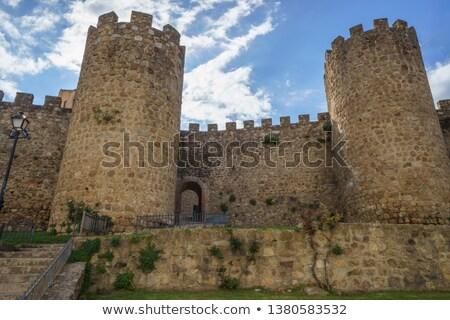 Stock photo: City wall of Plasencia, Spain.
