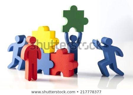 Meeting - White Word on Red Puzzles.  Stock photo © tashatuvango