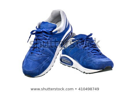 Sporting blue sneakers Stock photo © Valeriy