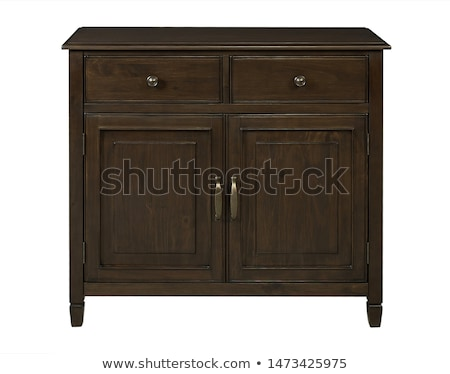Wooden dresser isolated Stock photo © ozaiachin