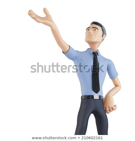 3d businessman pointing up isolated contains clipping path stock photo © kirill_m