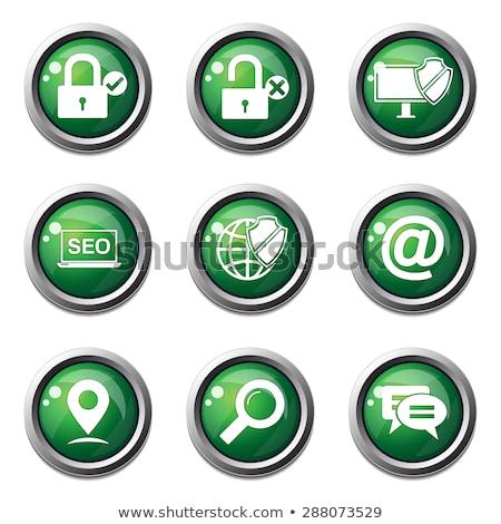 SEO Internet Sign Green Vector Button Icon Design Set 3 Stock photo © rizwanali3d