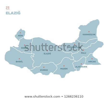 Map of Turkey, Elazig Stock photo © Istanbul2009