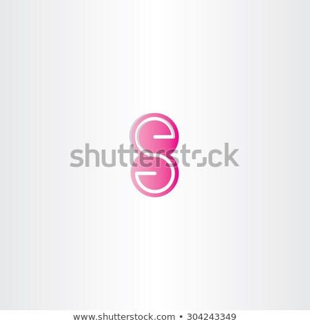 Magenta levél szám nyolc ikon logo Stock fotó © blaskorizov