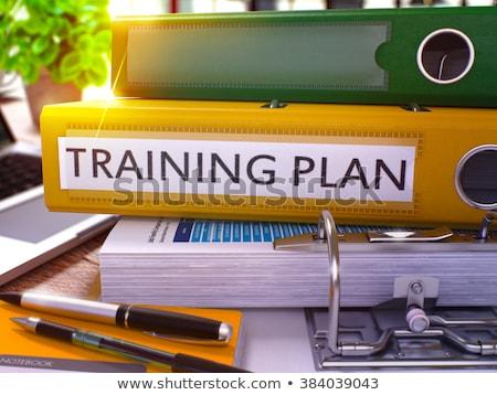 Training Plan on Office Folder. Toned Image. Stock photo © tashatuvango