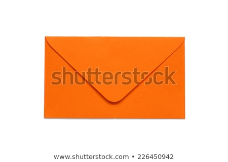 Stock photo: Orange envelopes