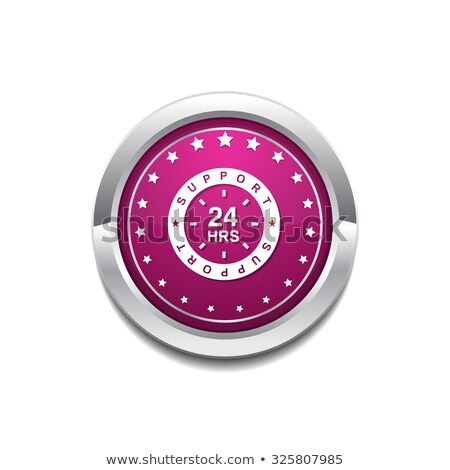 24 hours service pink vector button icon stock photo © rizwanali3d