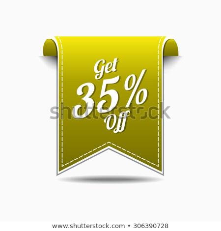 get 35 percent yellow vector icon design stock photo © rizwanali3d