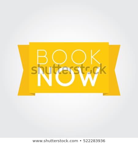 Book Now Yellow Vector Icon Design Stock photo © rizwanali3d