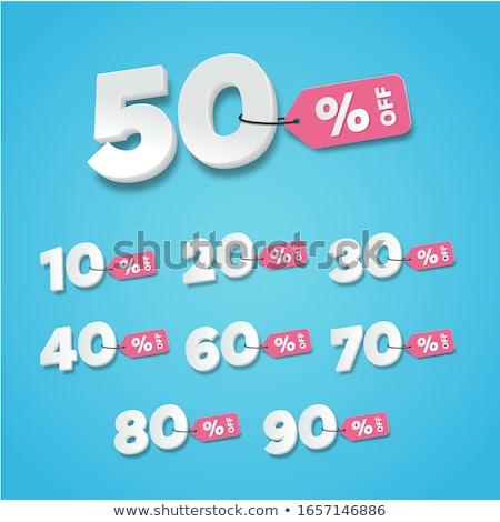 Discount Deal Blue Vector Icon Design stock photo © rizwanali3d