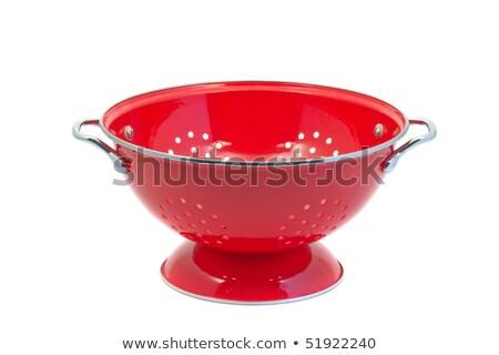 Red empty colander isolated  Stock photo © michaklootwijk