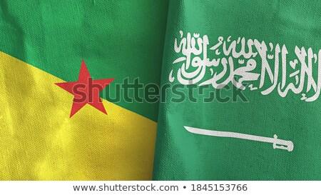 サウジアラビア フランス語 フラグ パズル 孤立した 白 ストックフォト © Istanbul2009
