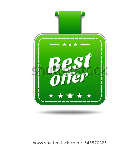 Best Offer Green Vector Icon Design Stock photo © rizwanali3d