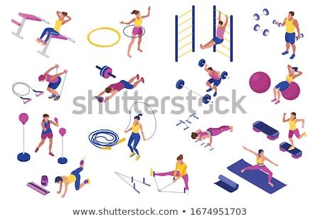 fitness · menino · criança · exercer · pessoa · masculino - foto stock © paha_l