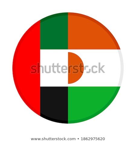 Emirati Arabi Uniti Niger bandiere puzzle isolato bianco Foto d'archivio © Istanbul2009
