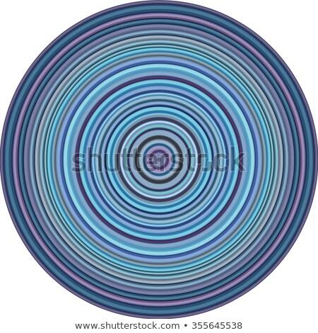 Concentrique tuyaux circulaire forme multiple bleu Photo stock © Melvin07