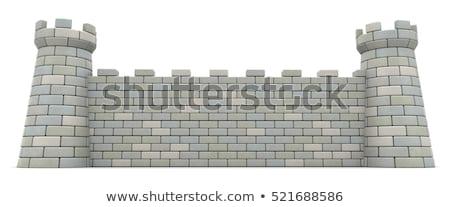 古い · 牙城 · 強い · 壁 · ゲート - ストックフォト © steffus