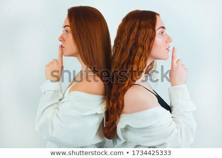 Parmaklar iki kişi dokunmak parmak insan nesne Stok fotoğraf © meinzahn