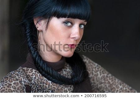 肖像 · 少女 · クローズアップ · 緑の目 · 女性 - ストックフォト © bartekwardziak