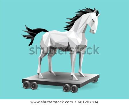 トロイの 馬 セキュリティ ネットワーク ロック ストックフォト © Genestro