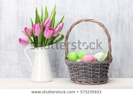 Easter Basket and Flower Jug Stock photo © frannyanne