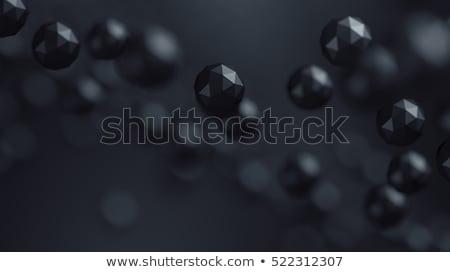 zwart · wit · 3D · glanzend · wereldbol · business · kaart - stockfoto © maxmitzu