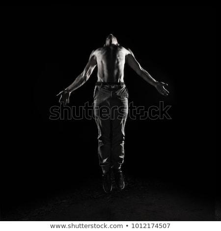 Férfi húz tevékenység póz eps 10 Stock fotó © Istanbul2009
