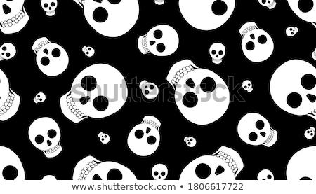 hand drawn vector illustration punk theme skulls stock photo © trishamcmillan