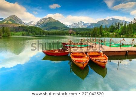 Fishing boat park at pier Stock photo © bluering