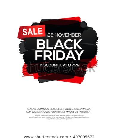 Black friday verkoop label ontwerp inkt splash Stockfoto © SArts