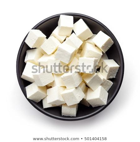 Kom witte voedsel kaas Stockfoto © Digifoodstock