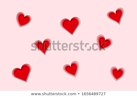 Paper card with deep hole and heart Stock photo © orson