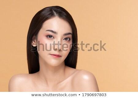 Atraente asiático modelo brilhante make-up veja Foto stock © deandrobot