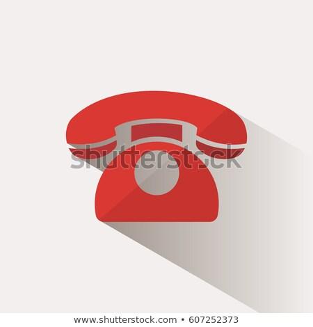 icon · vintage · telefoon · witte · ontwerp · technologie - stockfoto © imaagio