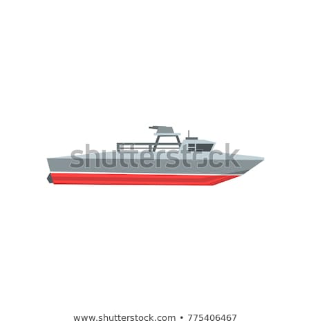 coast guard cutter flat design vector illustration stock photo © robuart
