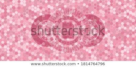 Financiële symbool binnenkant zeshoek verbazingwekkend business Stockfoto © user_11138126